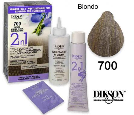 Dikson 2 in 1 crema color 700 biondo