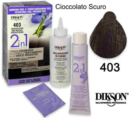 Dikson 2 in 1 crema color 403 cioccolato scuro