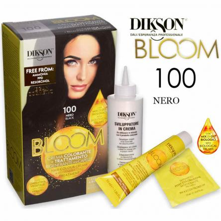 Dikson bloom crema colorante con cheratina 100 nero