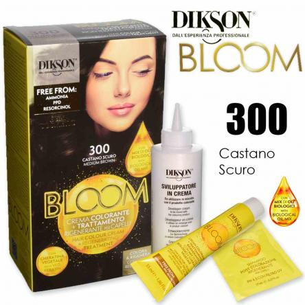 Dikson bloom crema colorante con cheratina 300 castano scuro