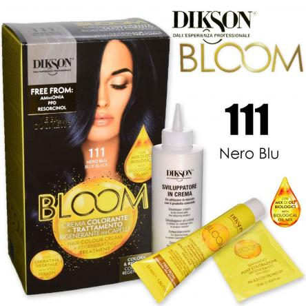 Dikson bloom crema colorante con cheratina 111 nero blu