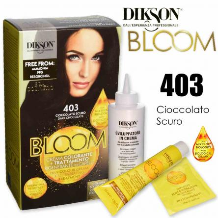 Dikson bloom crema colorante con cheratina 403 cioccolato scuro